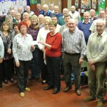 Presentation of £1350 cheque to MND Society, March 2015