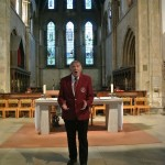 John Rehearses in the Minster